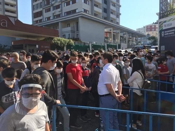 LGS'deki kalabalık isyan ettirdi