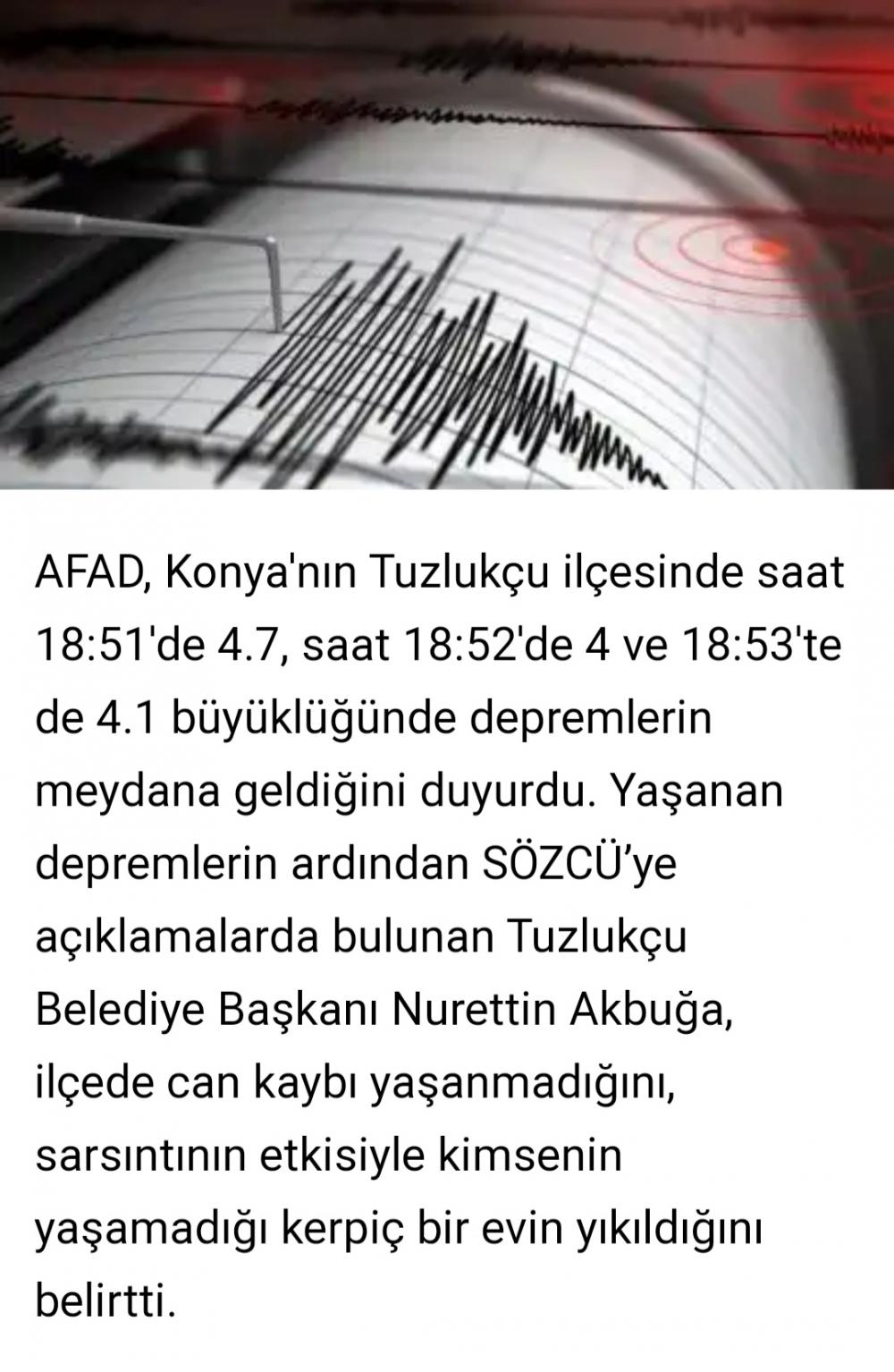 4.7 şiddetinde deprem meydana geldi