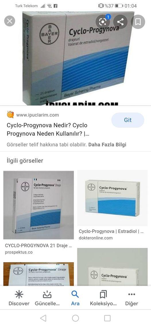 Adet düzensizliği için cyclo-progynova kullananlar