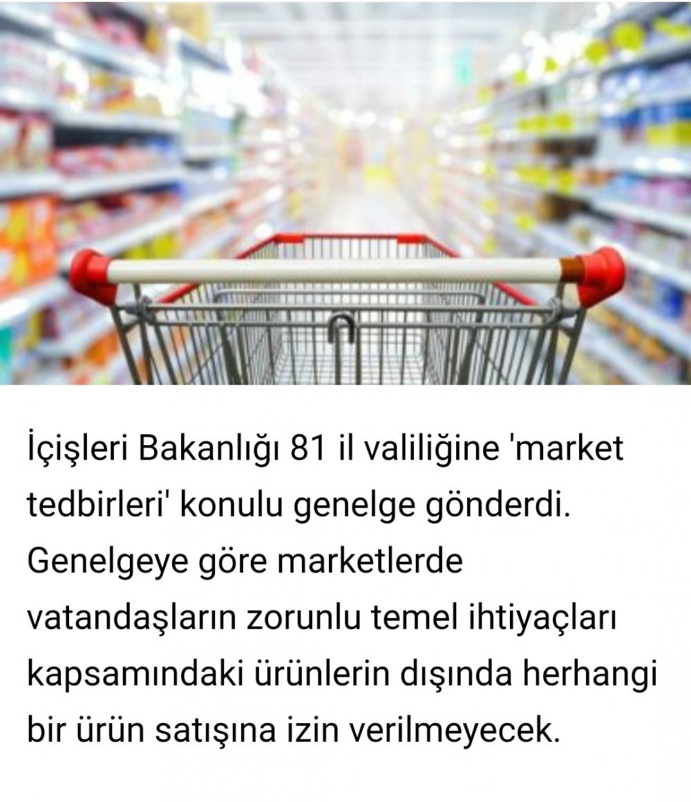 İçişleri Bakanlığı'ndan 'market tedbirleri' genelgesi