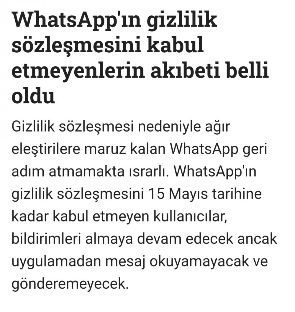 WhatsApp gizlilik sözleşmesini kabul etmeyenlerin akıbeti belli oldu