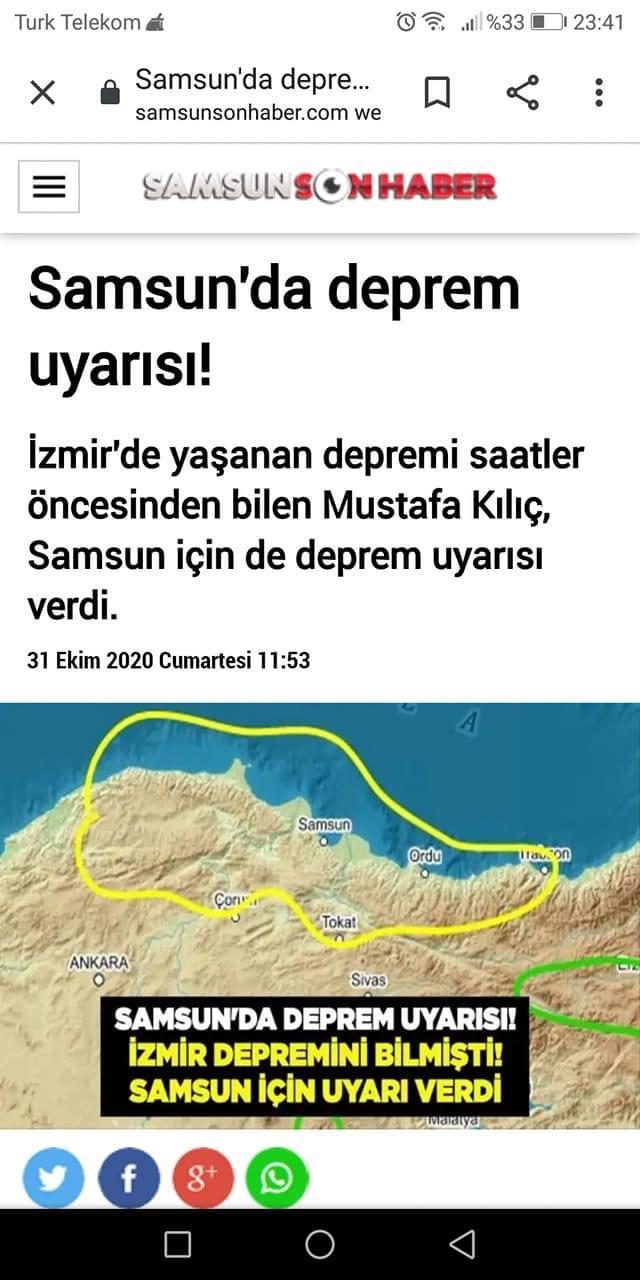 Samsun'da deprem uyarısı
