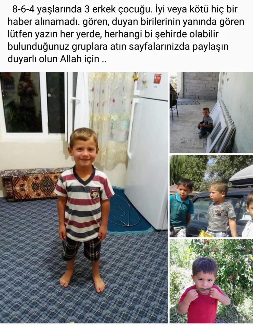 Konya'da kayıp olan 3 küçük çocuktan hala haber alınamadı